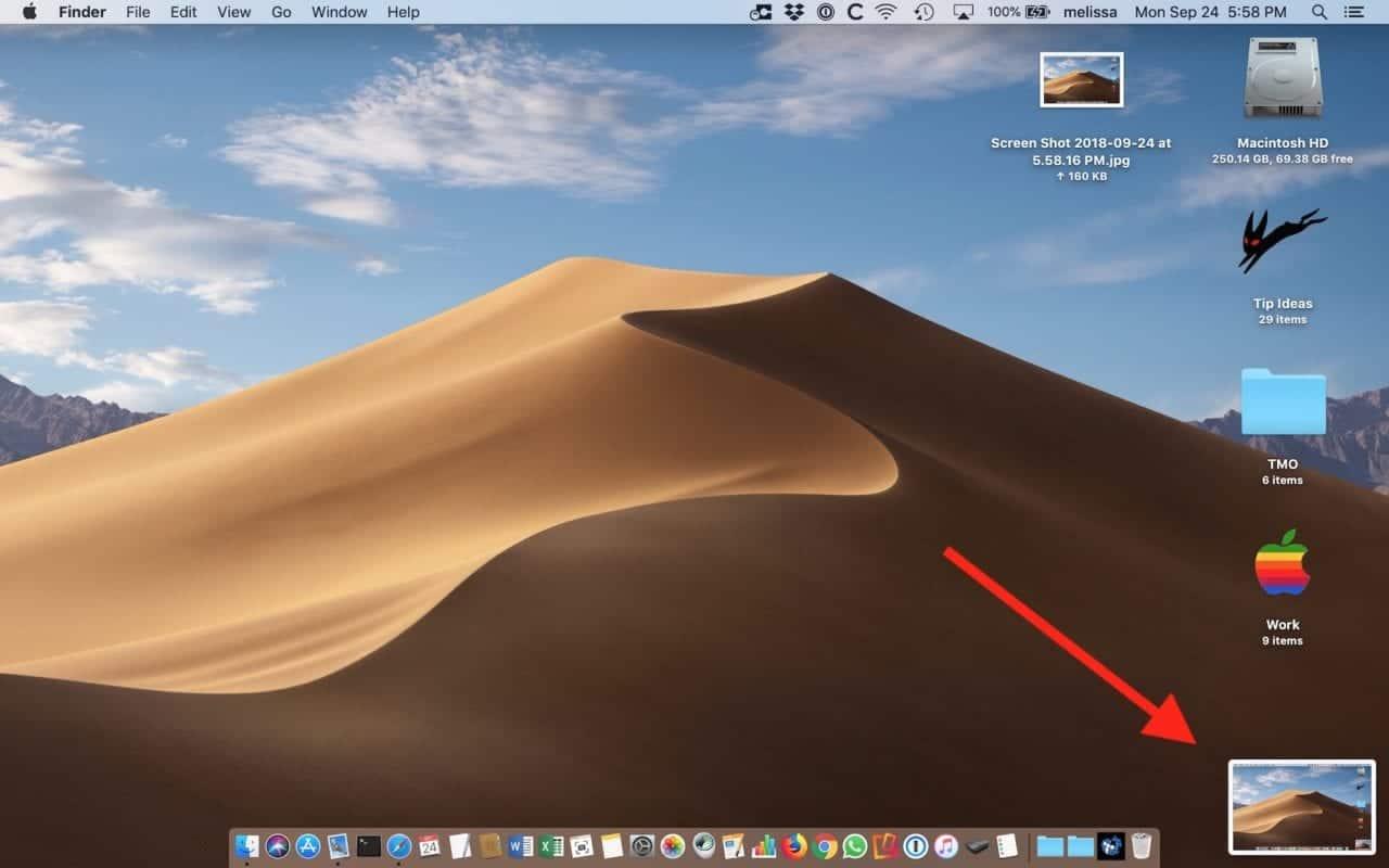 MacOS Mojave ekran görüntüsü öngörünümü nasıl kapatılır