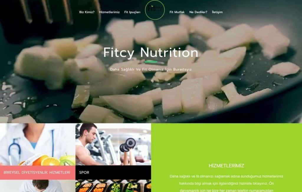 Fitcy Beslenme ve Diyet Web Sitesi