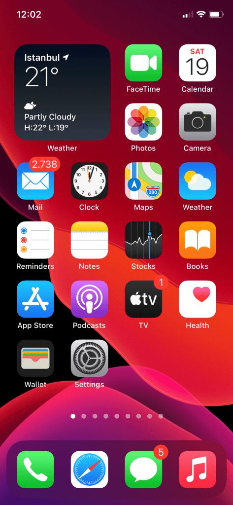 iOS ekran düzenleme